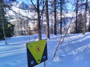 Panneau d'information sur zone d'hivernage