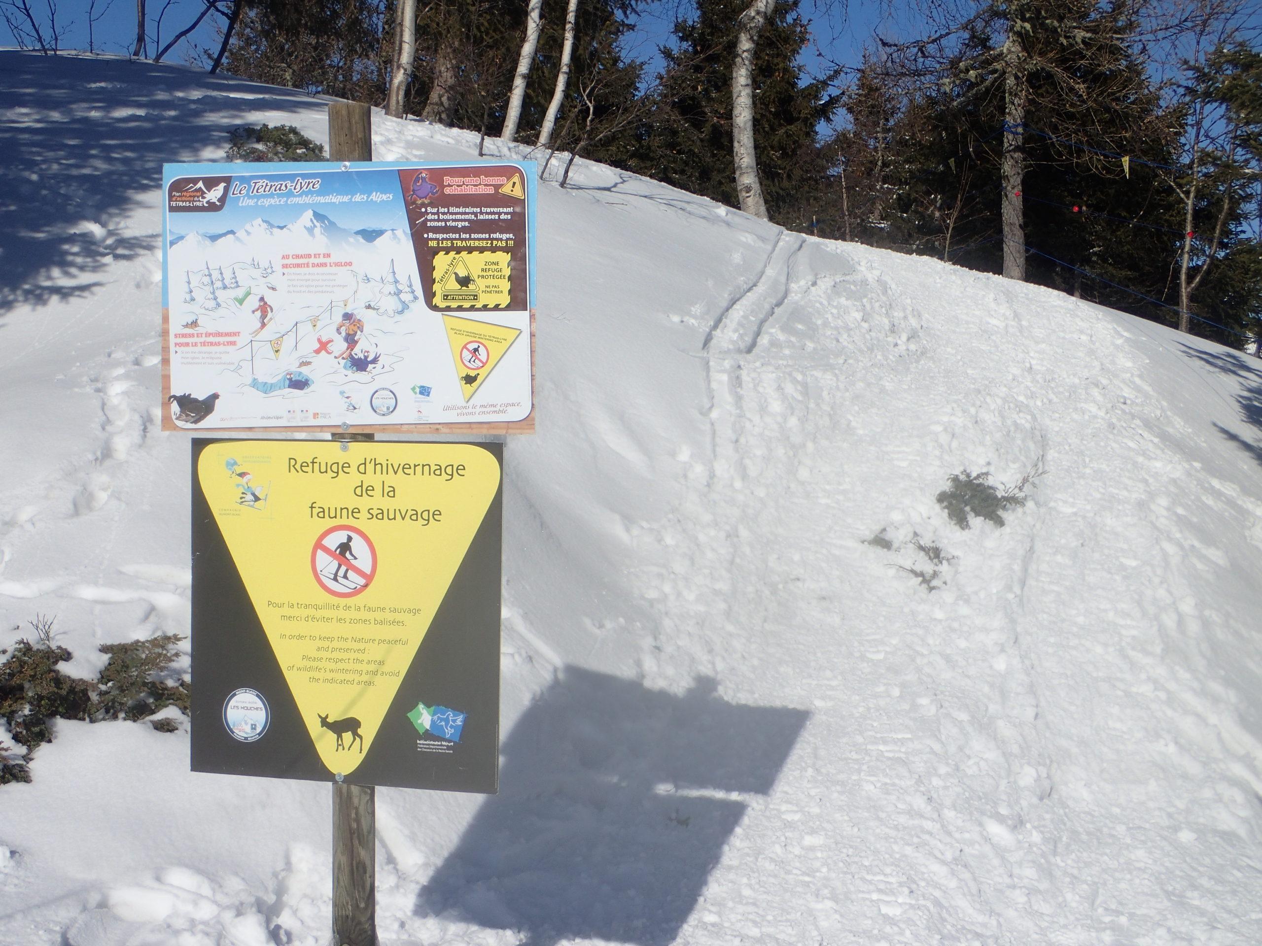 Panneaux information hivernage faune sauvage